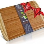 #1 Best ORGANIC Bamboo Wood Cutting Board & Chopping Block with Groove - Doubles as a Beautiful Extra Large Serving Tray Platter 18x12 - Great Idea for Wedding Gift, Housewarming, or Birthday Present