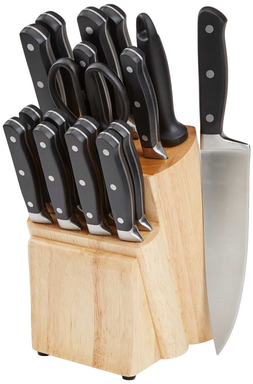 Amazonbasics Premium 18 Piece Knife Block Set Review
