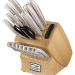 Chicago Cutlery 18-Piece Insignia Steel Knife Set with Block and In-Block Sharpener