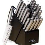 Oster 70562.22 Baldwyn 22-Piece Cutlery Block Set, Brushed Satin