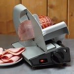 8.7in. Stainless Steel Electric Ham Slicer - Suddenly Your Kitchen is a Deli