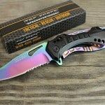 Tac Force TF-705RB Rainbow Spring  4.5-Inch Assisted Knife