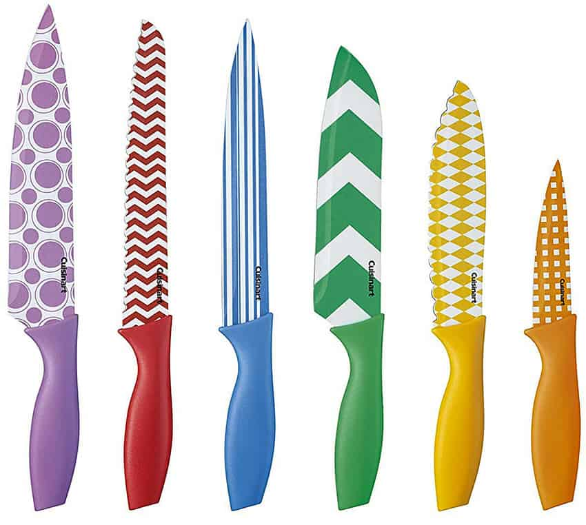 Cuisinart Knives Review C55-12PR1 12-Piece Printed Color Knife Set with Blade Guards, Multicolored