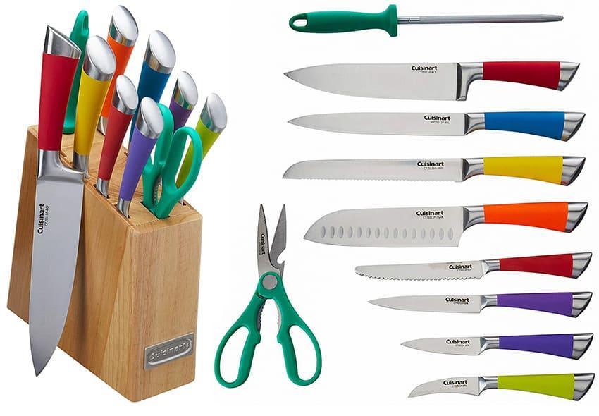 Cuisinart C77SS-11P 11-Piece Arista Collection Cutlery Knife Block Set