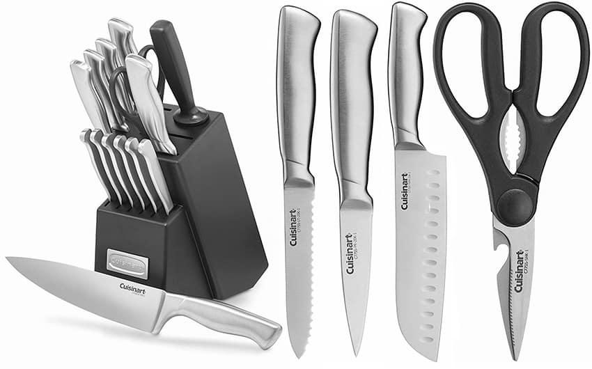 Cuisinart C77SS-15PK 15-Piece Stainless Steel Hollow Handle Block Set