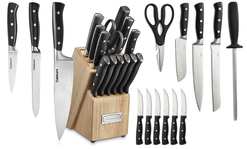 Cuisinart C77TR-15P Triple Rivet Collection 15-Piece Knife Block Set