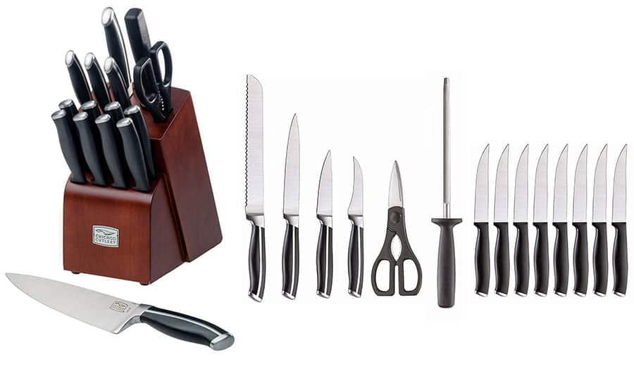 Chicago Cutlery Belmont 16-Piece Knife Block Set
