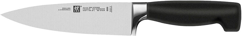 J.A. Henckels Twin Four Star 6-Inch High Carbon Stainless-Steel Chef's Knife