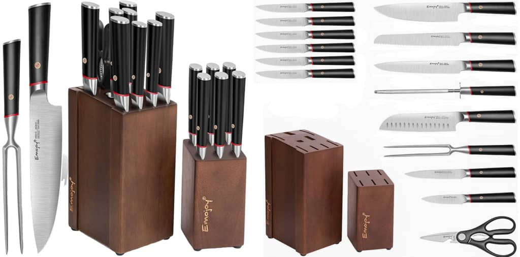 Emojoy 16 Piece Knife Set